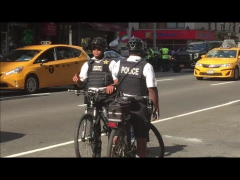 United States Secret Service Federal Officers On Bike Patrol For UN General Assembly Duty