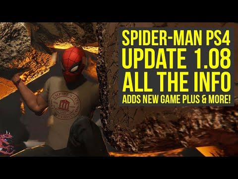 Spider Man PS4 Update 1.08 ALL THE INFO  Adds New Game Plus & New Features  Spiderman PS4 Update