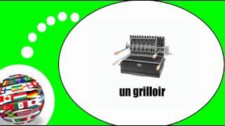 Французского видео урок = Приготовление вне дома