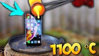 ЧТО ЕСЛИ ВЫЖЕЧЬ ДЫРУ в iPhone XS MAX ТРЕМЯ РАСКАЛЕННЫМИ ШАРАМИ в 1100 ГРАДУСОВ ..?!