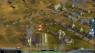 Command & Conquer Generals: Zero Hour - 1v2 Лазерное шоу
