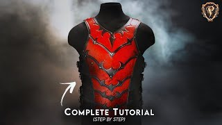 ⚔️ HOW TO MAKE ARMOR - FANTASY BREASTPLATE 🛡️ Leather Cuirass Cosplay Armour / Chest DIY