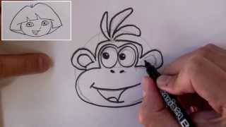 How to Draw Boots The Monkey  ( From Dora the Explorer )