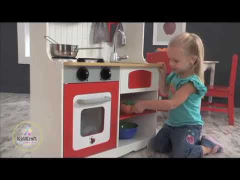Rode country keuken kidkraft youtube
