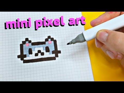 МИНИ КОТЕЙКА PIXEL ART !!! Рисуем по клеточкам CAT
