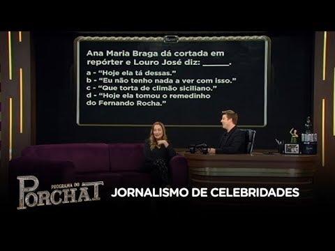 Porchat desafia Sonia Abrão a adivinhar as manchetes sobre celebridades