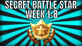 ALL Fortnite saison 6 Secret Battle Star Locations semaine 1 à 8 - Saison 6
