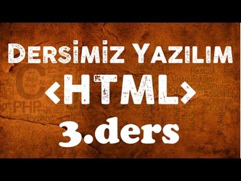 HTML Dersleri 03 Arka Plan Renklendirme Ve Arka Plana Resim Ekleme