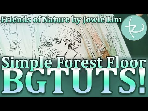 BGTUTS! Episode 3 - Forest Floor Background Adult Coloring in Friends of Nature by Jowie Lim