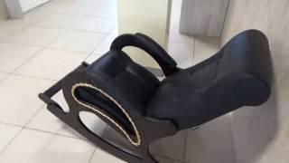 Кресло-качалка кожаная с подножкой(, 2017-02-07T07:52:17.000Z)