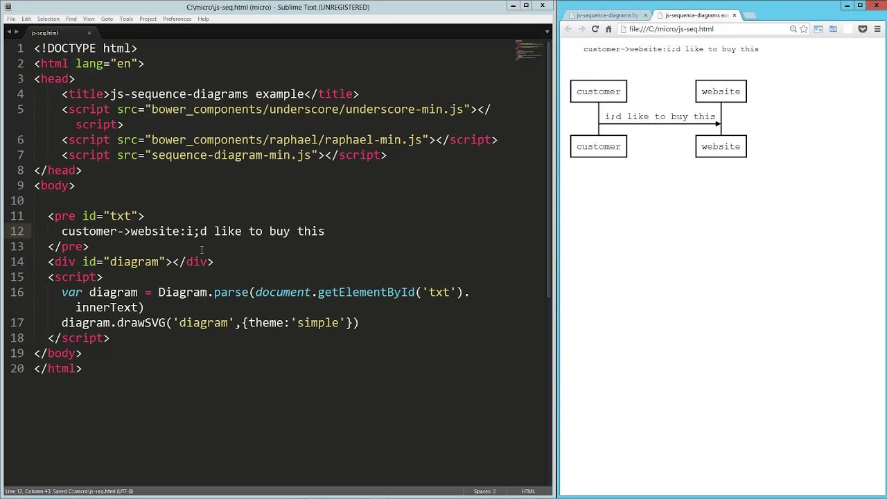 Js sequence diagrams youtube js sequence diagrams ccuart Images