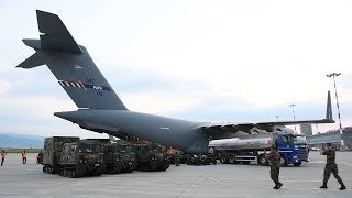 NOJP17 - NATO aircraft landed in Sibiu Airport