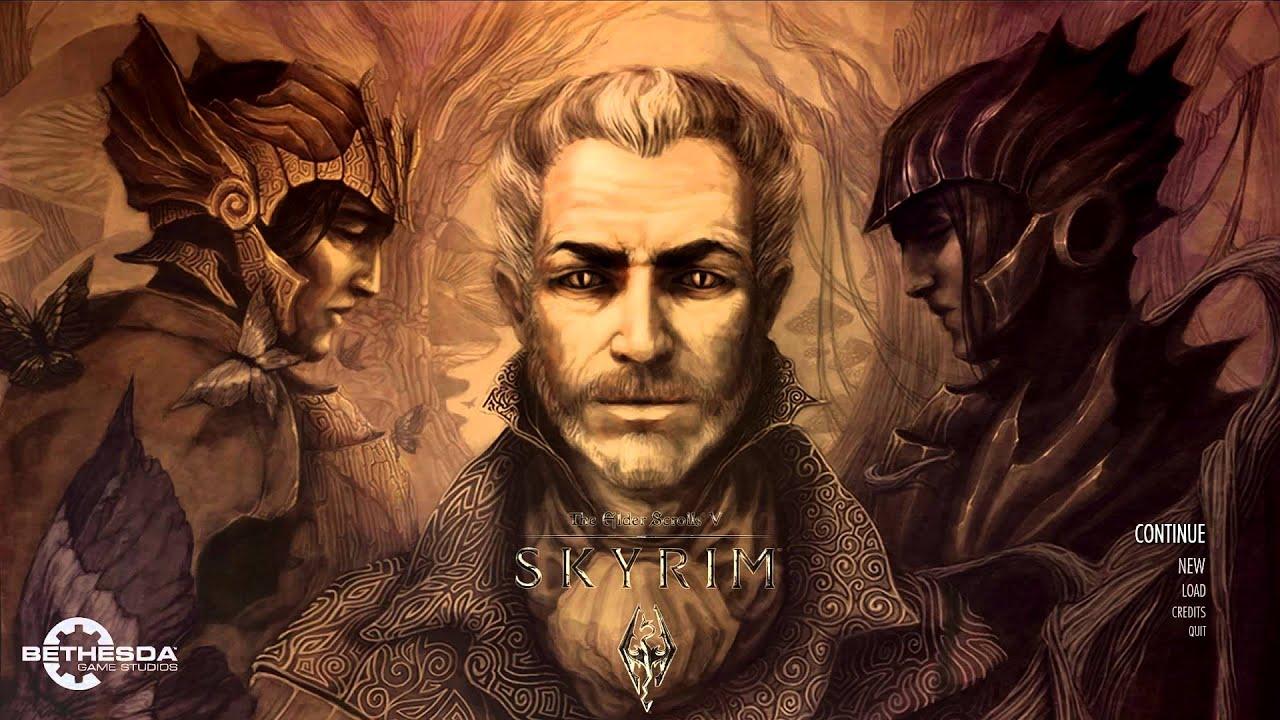 Skyrim Custom Main Menu Background Sheogorath