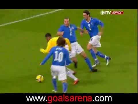 Robinho's goal ( Brazil vs Italy) 2009