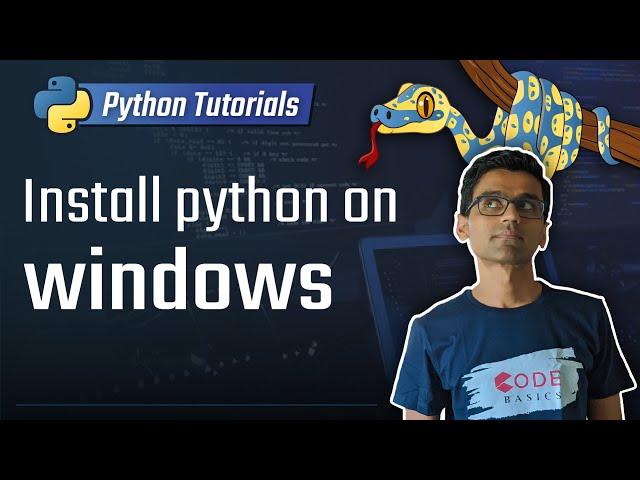 1. Install python on windows [Python 3 Programming Tutorials]