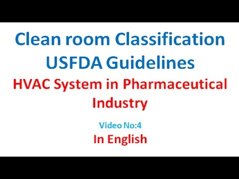 Clean room USFDA guideline in English [Video No-4]
