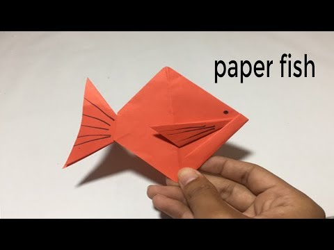 How to Make a paper fish Easy  - Easy origami paper fish for beginners making | PouKray