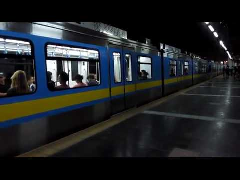 MRT-3 Prototype Train Boarding and Leaving Guadalupe Station