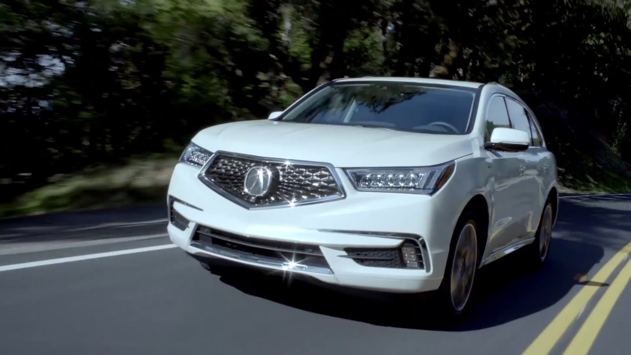 2017 acura mdx in white driving video automototv youtube. Black Bedroom Furniture Sets. Home Design Ideas