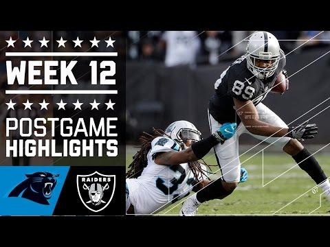 Panthers vs. Raiders | NFL Week 12 Game Highlights