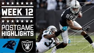 Panthers vs. Raiders | NFL Week 12 Game Highlights