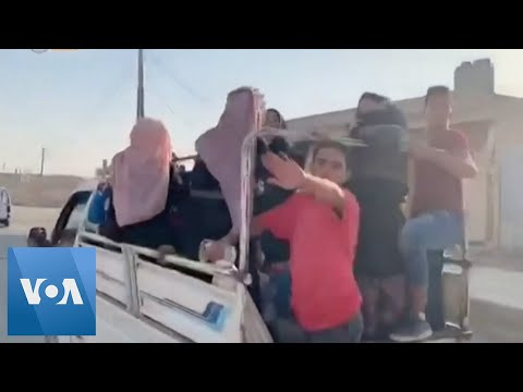 Civilians Flee Syrian Border Towns as Turkish Offensive Begins