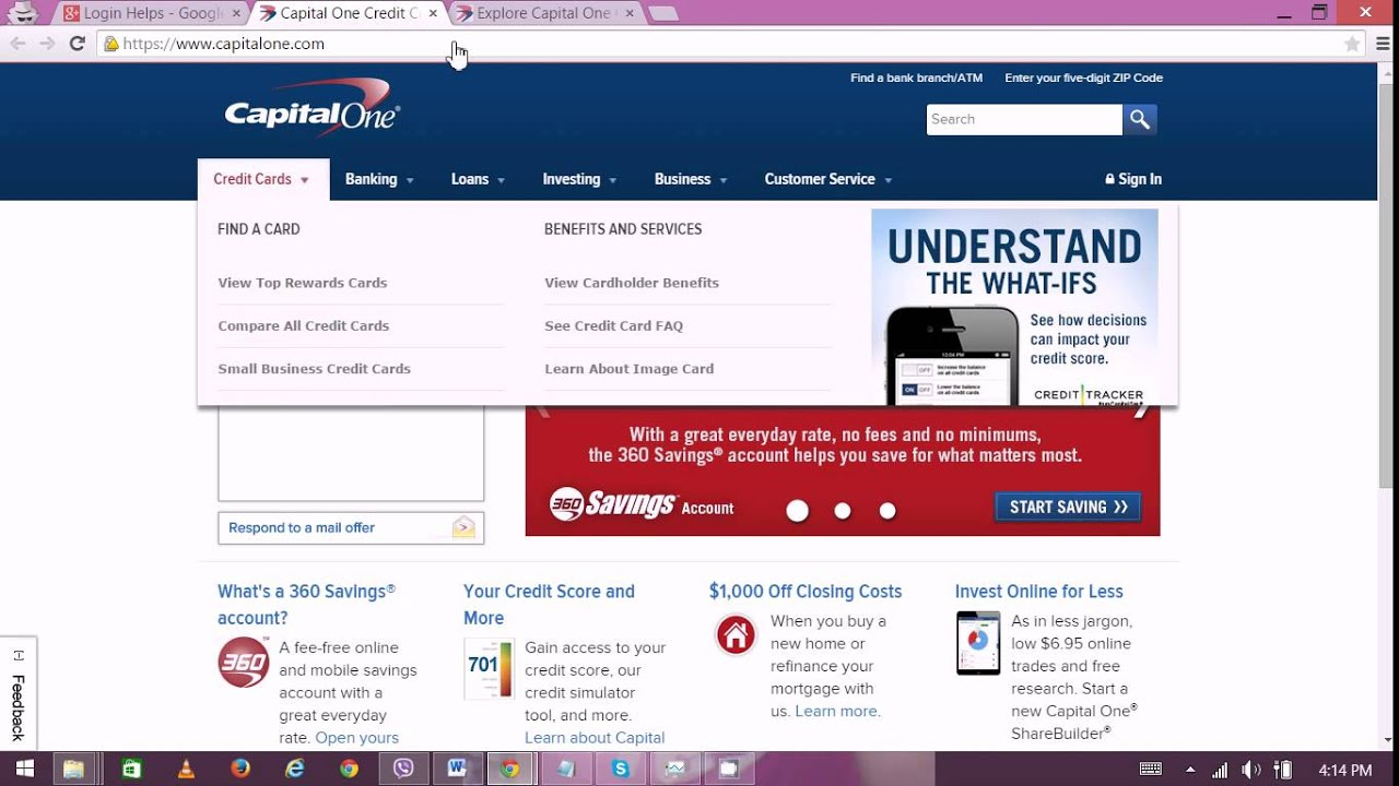 Capital one credit card online registration infocard capital one small business credit card payment address image reheart Gallery