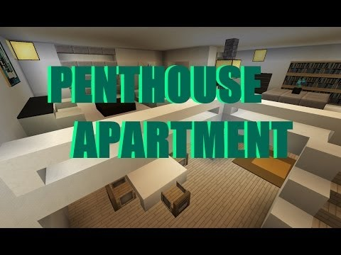 minecraft: Modern Penthouse Apartment/ Moderne Penthouse-Woh