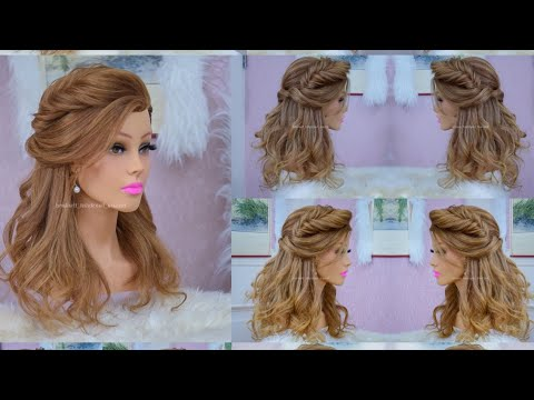#Hairstyle for long #hair #tutorial. Cute #prom #updo with #braids