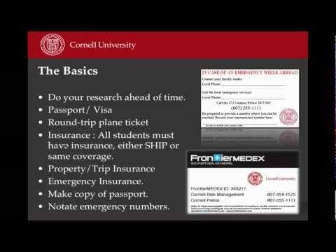 Cornell Abroad Pre-Departure Video