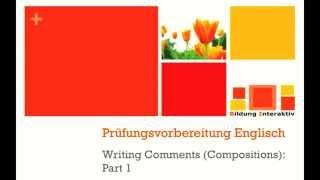 Comment Writing part 1 - Vorschauvideo