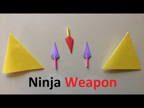 How to make a paper ninja weapon  | Easy and Super Secret Ninja Weapon