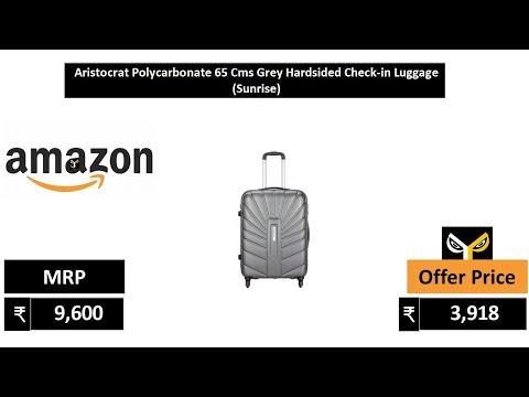 Aristocrat Polycarbonate 65 Cms Grey Hardsided Check-in Luggage (Sunrise)