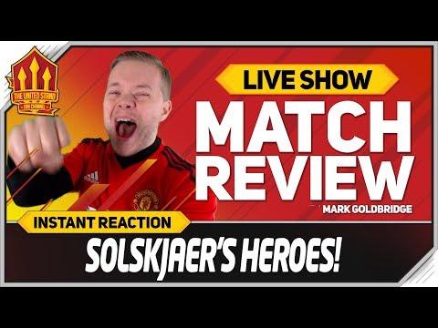 Goldbridge! SOLSKJAER'S HEROES! PSG 1-3 Manchester United Match Reaction