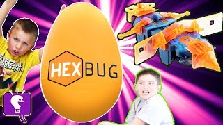 GIANT HEXBUG Surprise Egg and TOYS with HobbyKidsTV