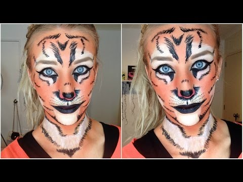 tiger halloween makeup tutorial youtube. Black Bedroom Furniture Sets. Home Design Ideas