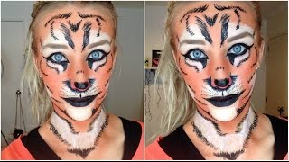 Tiger Halloween Makeup Tutorial Thumbnail