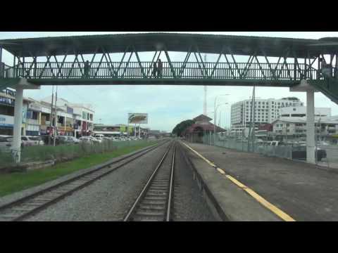 サバ州立鉄道 元名鉄キハ8500系 全区間前面展望(Tanjung Aru→Beaufort)・Beaufortデルタ線走行