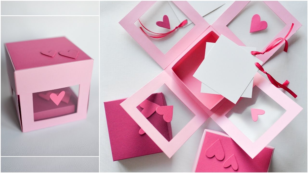 How To Make Transparent Exploding Box Hearts Step By Step Diy