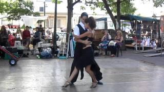 Buenos Aires, Plaza Dorrego, tango(Буэнос Айрес, Аргентина, февраль 2012 г. Уличные танцоры на площади Dorrego в районе San Telmo. По воскресеньям на..., 2012-02-29T13:39:42.000Z)