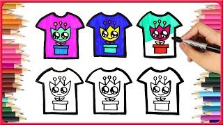 How To Draw Tshirt Drawing For Kids | Learn To Draw Easy Drawings And Coloring