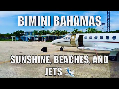 Cessna Citation[] Ft Lauderdale to Bimini [] Swinging Gear in a Jet for the First Time!