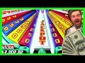 JACKPOT WON! Let's SPIN AND WIN on Super Wheel Blast Slot Machine Bonuses with SDGuy1234