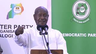 "Museveni tells off FDC, Opposition Leaders who Don't want to Dialogue: ""God can switch you off"""