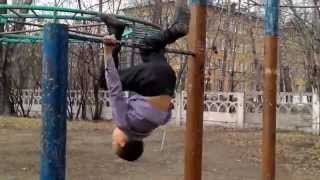 #01 видео урок как сделать трюк под названием бэтмэн на турнике