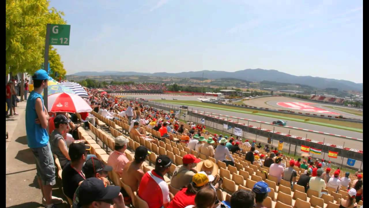 tribuna g circuit de catalunya grandstand youtube. Black Bedroom Furniture Sets. Home Design Ideas
