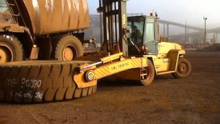 Komatsu 830E tyre change part 2