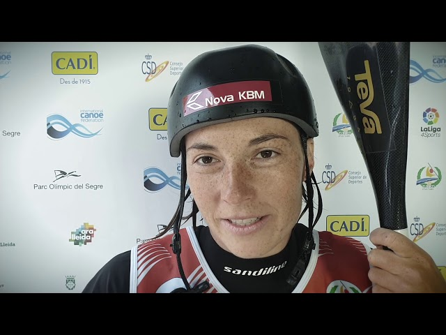 Eva Tercelj Slovenia K1 Gold / 2019 ICF Canoe Slalom World Championships La Seu d'Urgell Spain