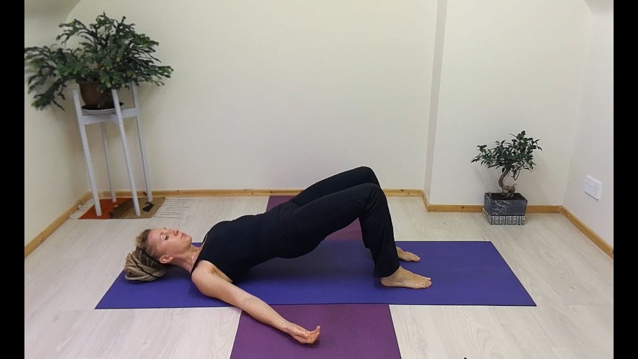 Pilates Shoulder Bridge with Modifications for Back Pain