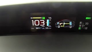 Toyota Prius 2016 122 cv hybrid acceleration 0-100 km/h